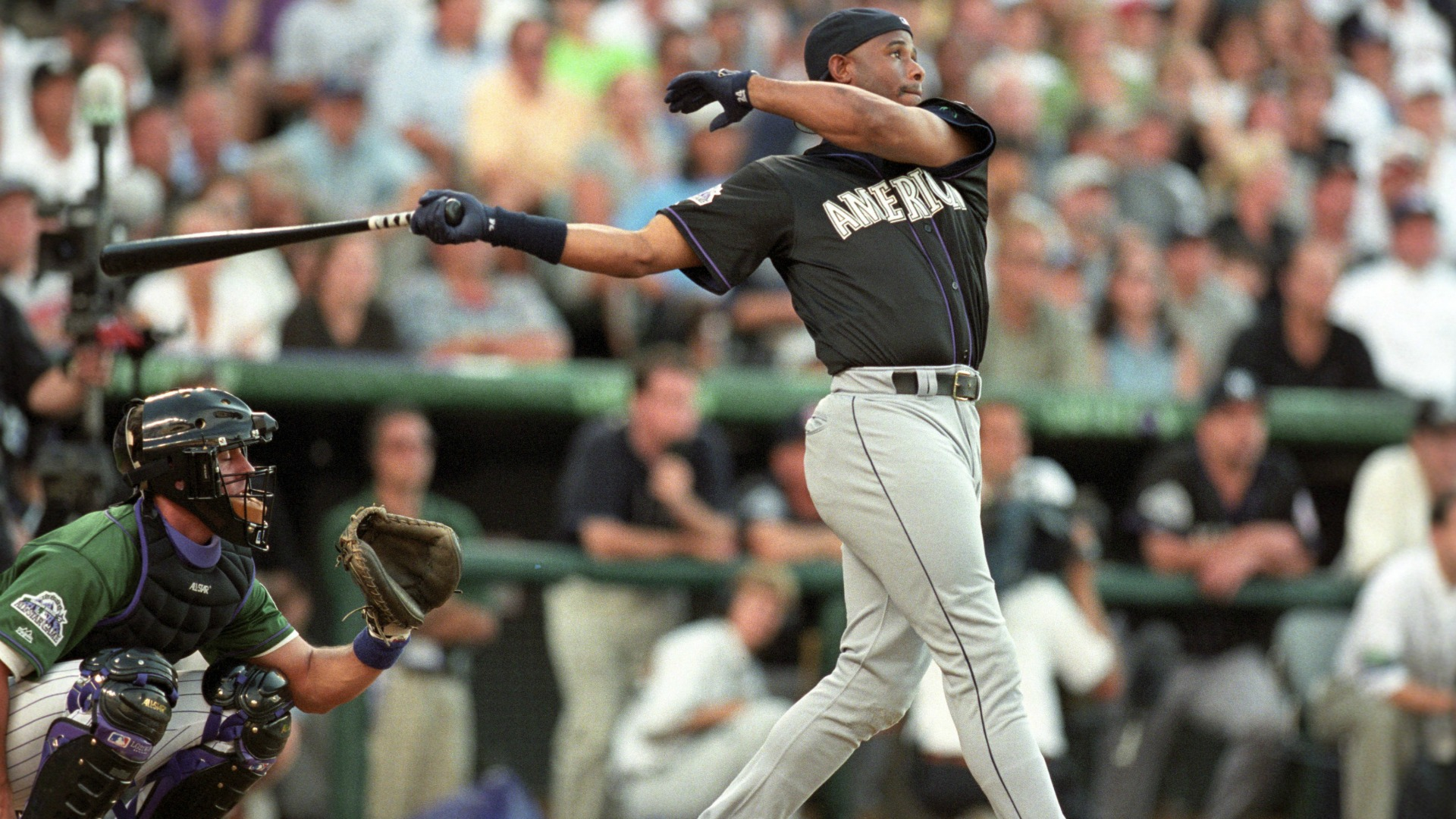 Ken Griffey Jr. explains why he wore his hat backwards