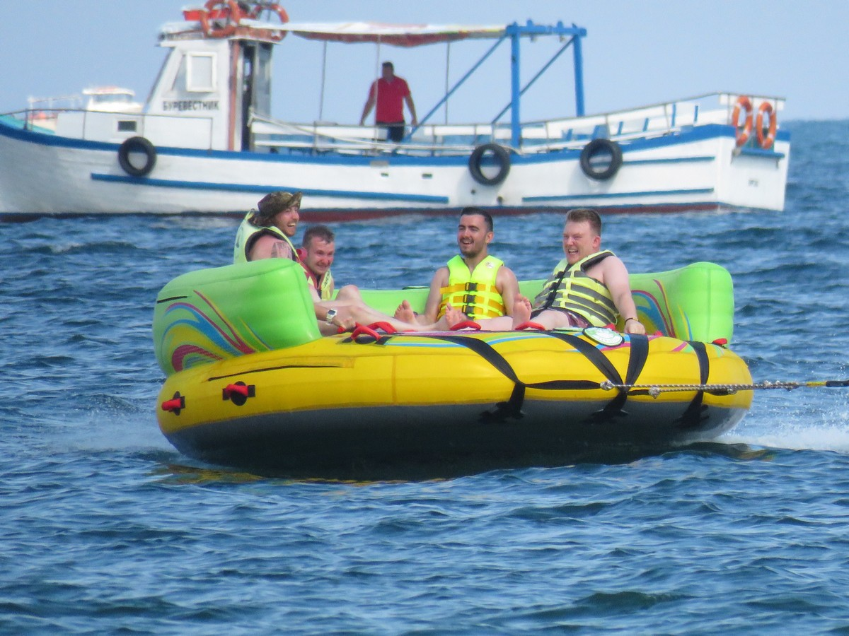 Inflatable fun in Sunny Beach